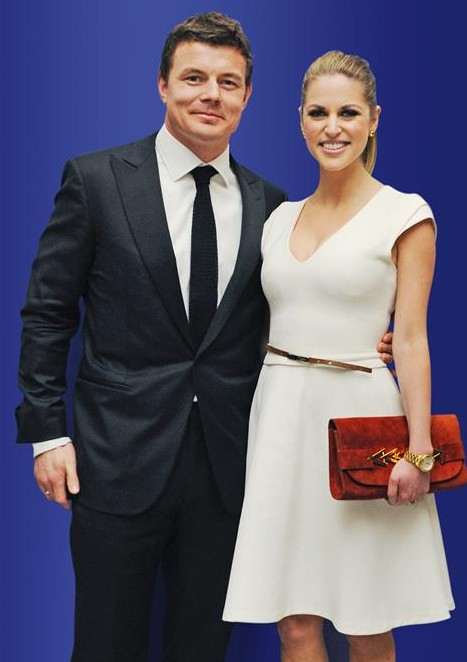 Competition: Brian O'Driscoll and his bestselling wife, Amy