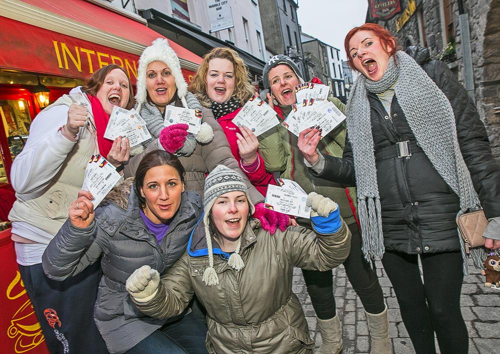 Ticket collectors: Fans outside the Rollercoaster Store, Kilkenny