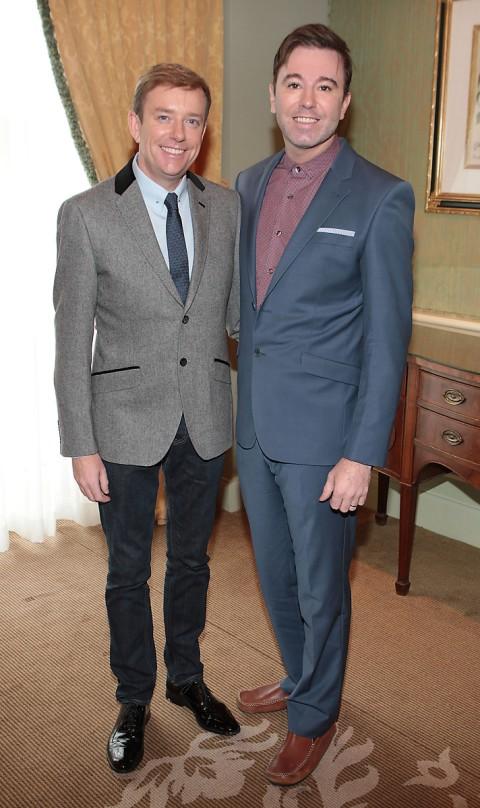 Alan with his civil partner Karl Broderick