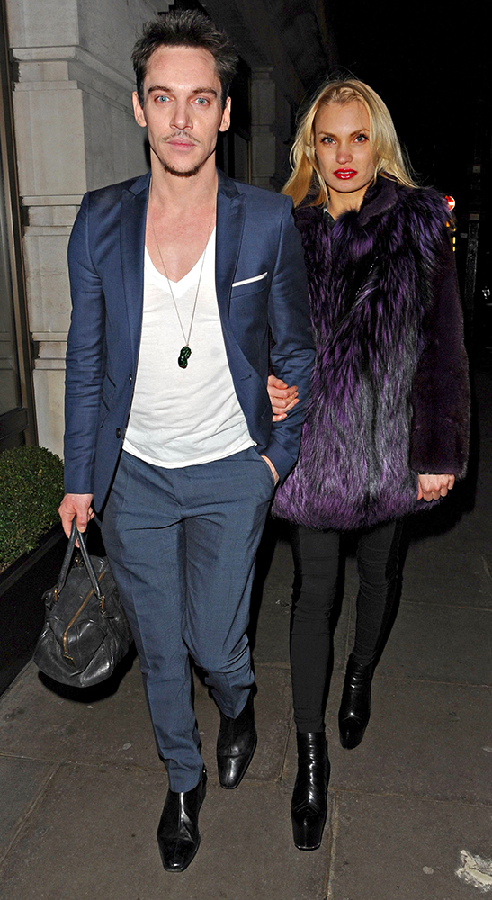 Jonathan Rhys Meyers steps out in London with former Miss Russia, Marinika Smirnova