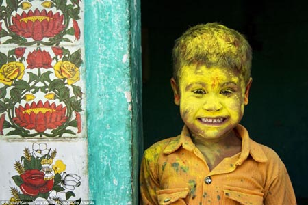 This photo taken by Anurag Kumar is called Yellow Fellow. Holi is one of the major festival of India and is the most vibrant of all. The joys of Holi knows no bound. The festival is celebrated across the four corners of India or rather across the globe. The festival is filled with so much fun and frolic that the very mention of the word 'Holi' draws smile and enthusiasm amongst the people.