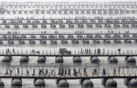 Wolfgang Weinhardt who took this photo said: 'This year I had the pleasure to join the pilgrims and devotees of the Maha Kumbh Mela - the largest spiritual gathering on the planet, held every 12 years'