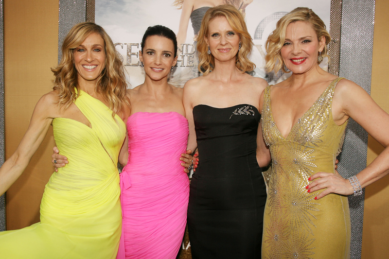 Kim (right) with her Sex and The City co-stars