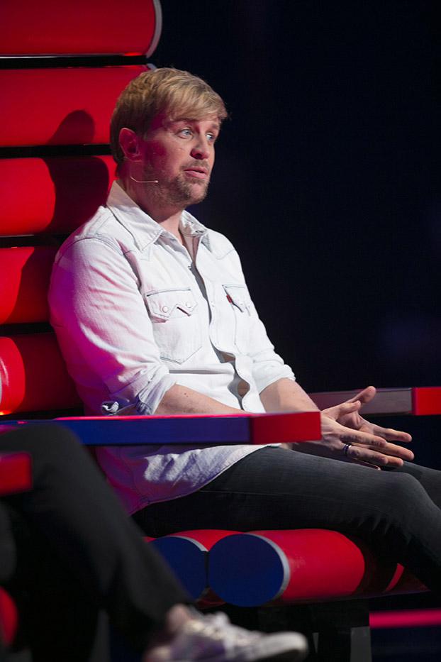 Kian Egan on the The Voice of Ireland. Pic: RTE