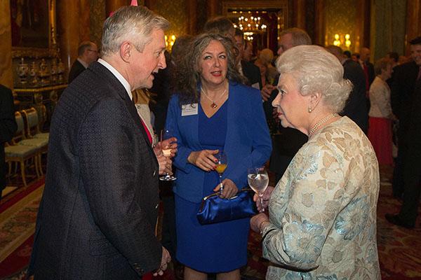 Honour: Louis Walsh meets the queen