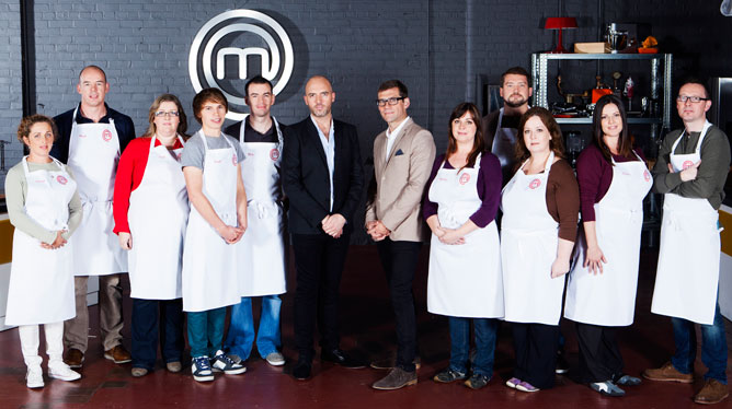RTE's MasterChef contestants with Nick Munier and Dylan McGrath