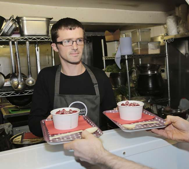 Chef Dave Mullen at The Canteen restaurant and coffee shop