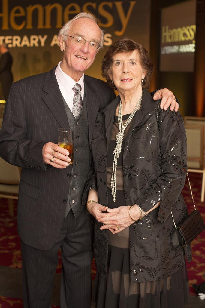 Frank & Bairbre Kelly pictured at the 43rd annual Hennessy Literary Awards, which took place at The Westin Hotel Dublin