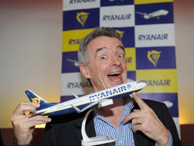 Ryanair's Michael O'Leary is making changes to suit passengers needs Pic: File
