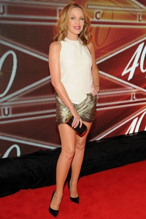 Tress to impress: Kylie Minogue