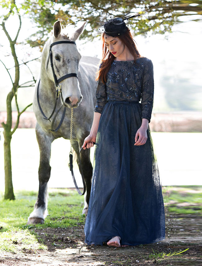 Full sleeve vintage  lace dress from €190  rental @ Covet, feathered headpiece  from €50 @ Covet