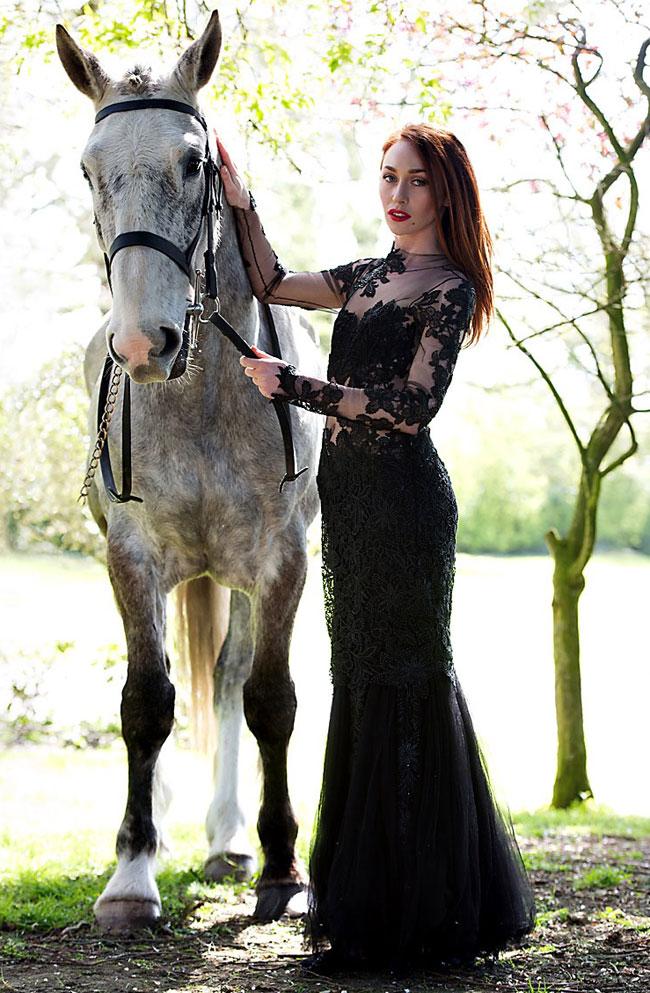 Black lace dress,  €399, The Design Centre