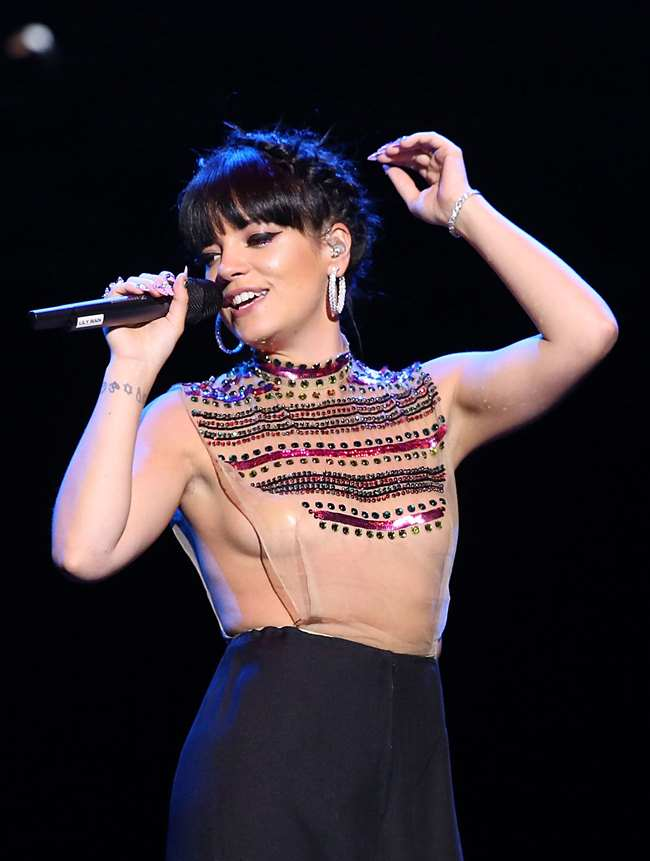 Celebrity mother: Lily Allen this month