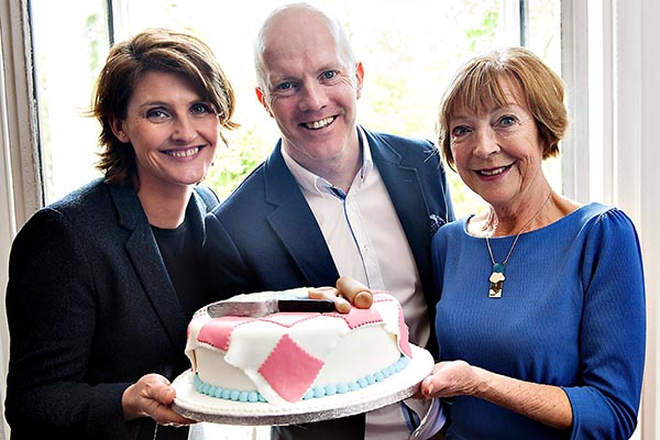 The Great Irish Bake Off presenter Anna Nolan with the judges Paul Kelly and Biddy White Lennon Pic: File