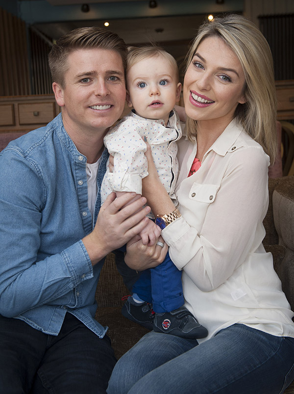 Model Pippa O'Connor and Brian Ormond with their son Ollie
