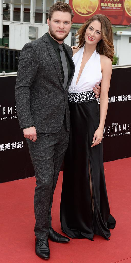 Madeline Mulqueen and her future husband actor Jack Reynor Pic: Rex