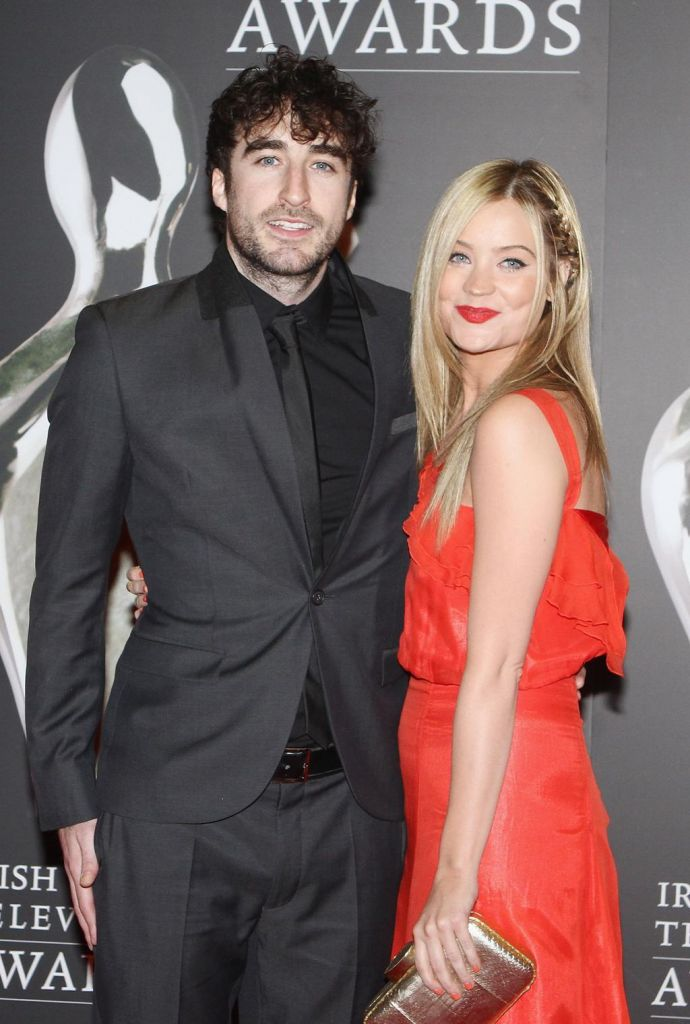 Frontman Danny O'Reilly, pictured with Laura Whitmore, made the announcement on Ryan Tubridy's radio show
