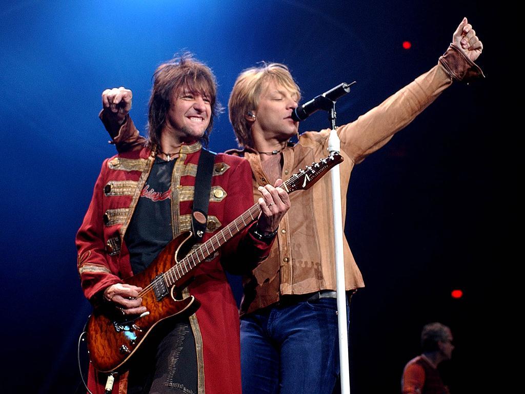 Jon Bon Jovi in his element. Pic: AP