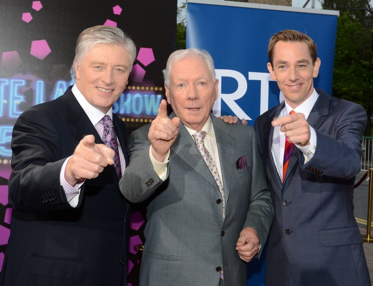 Pat Kenny, Gay Byrne, Ryan Tubridy at the 50th anniversary of The Late Late Show