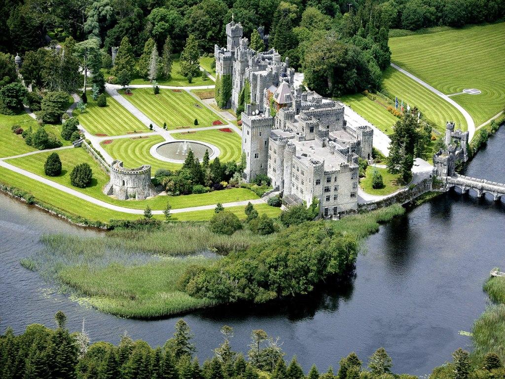 Ashford Castle sits on Lough Corrib