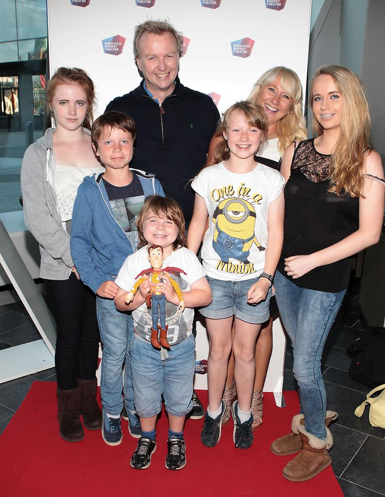 Matt with Aileen and their kids Aimee,Zak,Harry,Millie and Andie Pic: File
