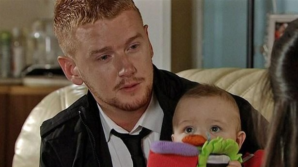 Gary being all cute with a baby! Pic: ITV