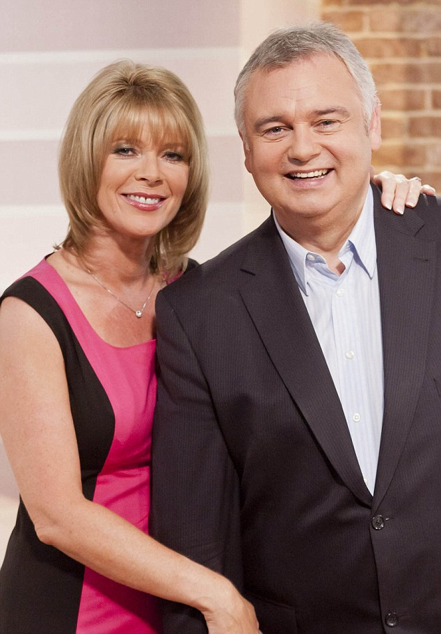 Ruth Langford, with husband Eamonn Holmes who is recovering from a double hip operation, said everyone was in shock Pic: ITV
