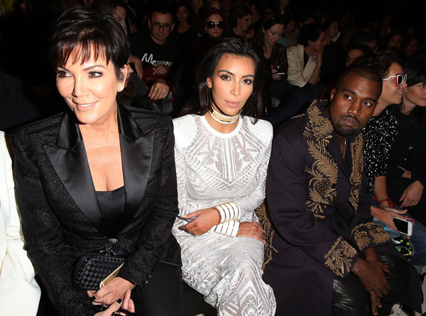 Kris and Kanye will be on the war path if the tape is released. Pic: File