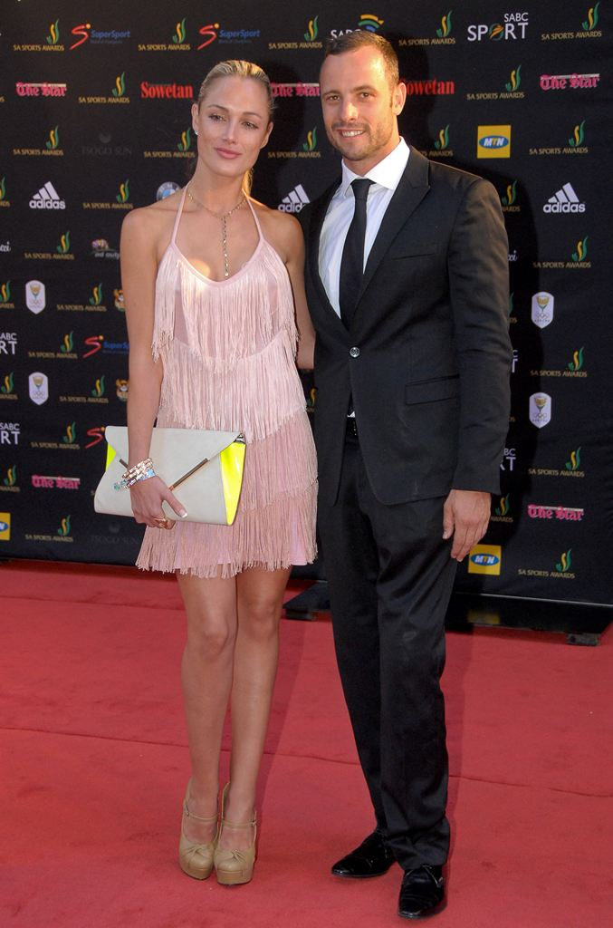 Reeva and Oscar before her death in 2013