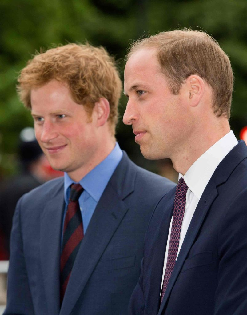Harry and William today Pic: Rex