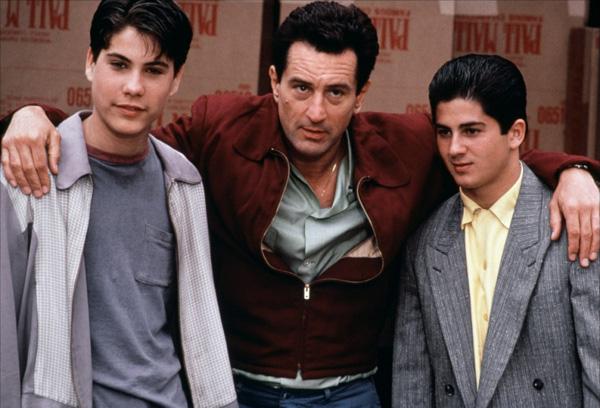 American actor Joe D'Onofrio in Goodfellas with Robert De Niro and Christopher Serrone