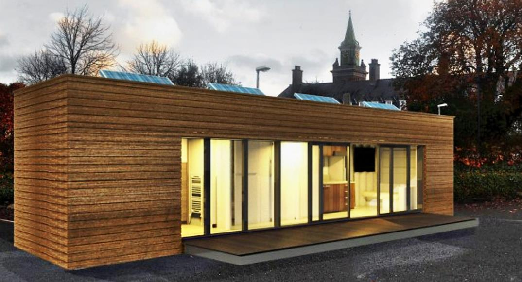 Shipping container converted to home for charity - How to convert a shipping container ...