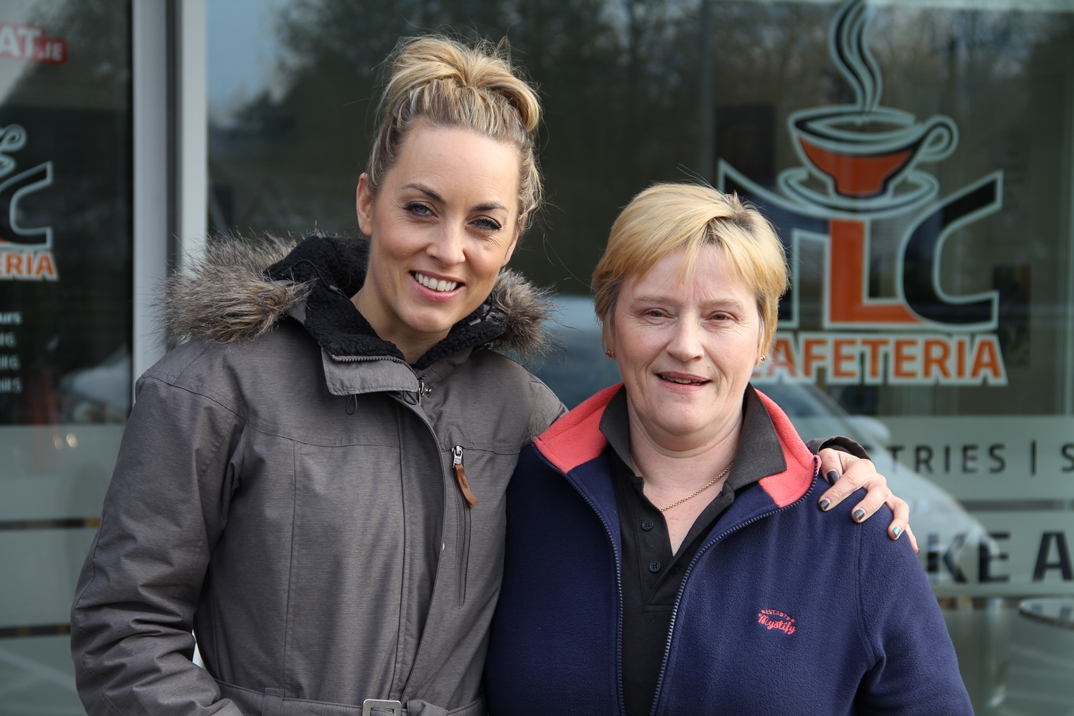Eilish with Operation Transformation host Kathryn Thomas