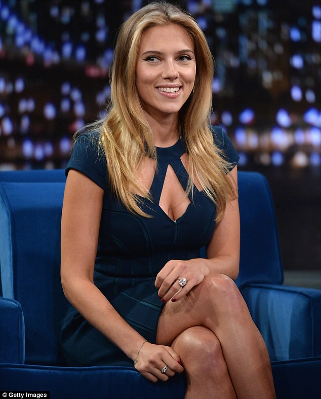 Nice rock! The actress, who next stars in Hail, Caesar!, sitting down for the Late Night With Jimmy Fallon in September 2013