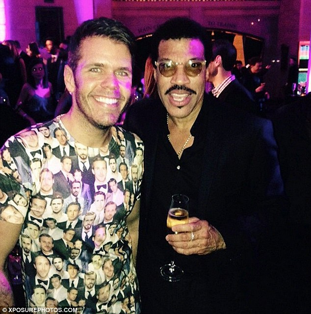 Big names: Perez, pictured here with Lionel Richie, is said to have dirt on some of the world's most high profile stars