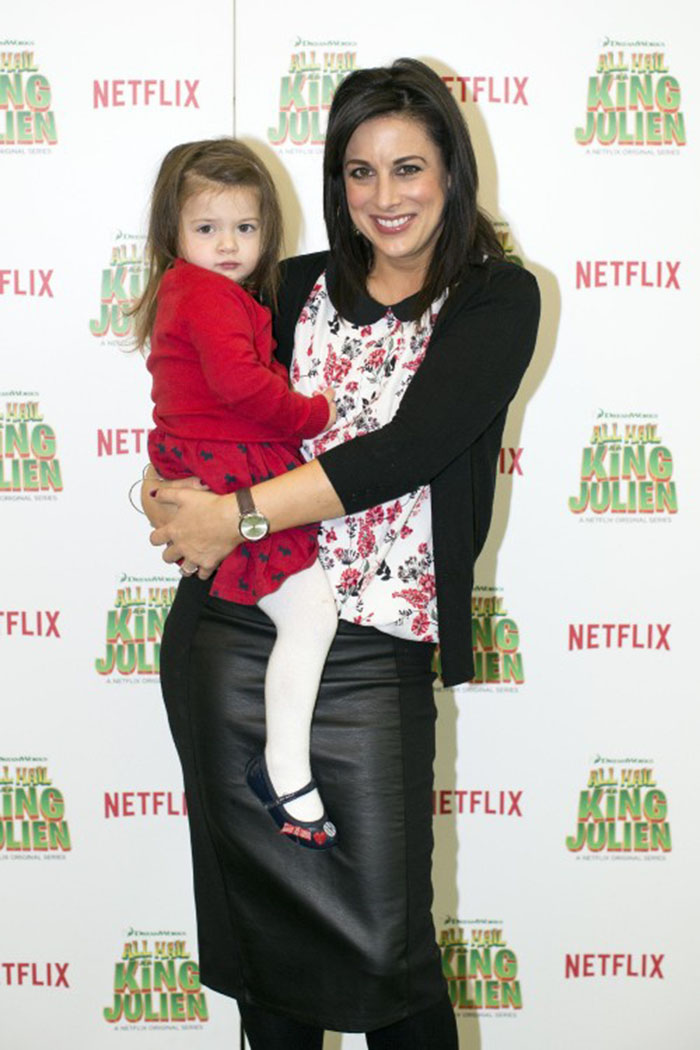 Lucy Kennedy and daughter Holly