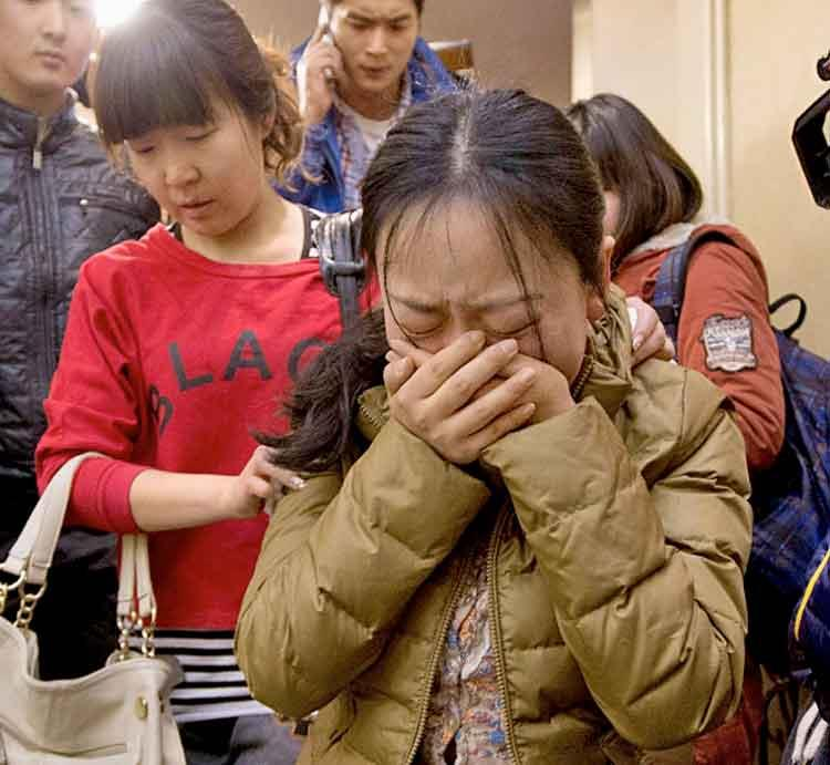 MARCH Relatives of missing passengers on MH370