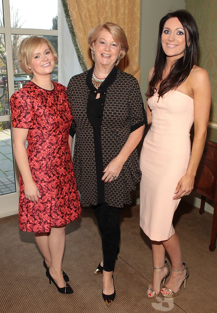 Cecelia with her sister Georgina and mum Miriam Ahern