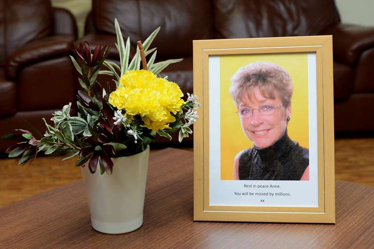 Tributes are left at the Coronation Street Studios after the death Of Actress Anne Kirkbride who played the character of Deirdre Barlow on January 20, 2015 in Manchester, England.