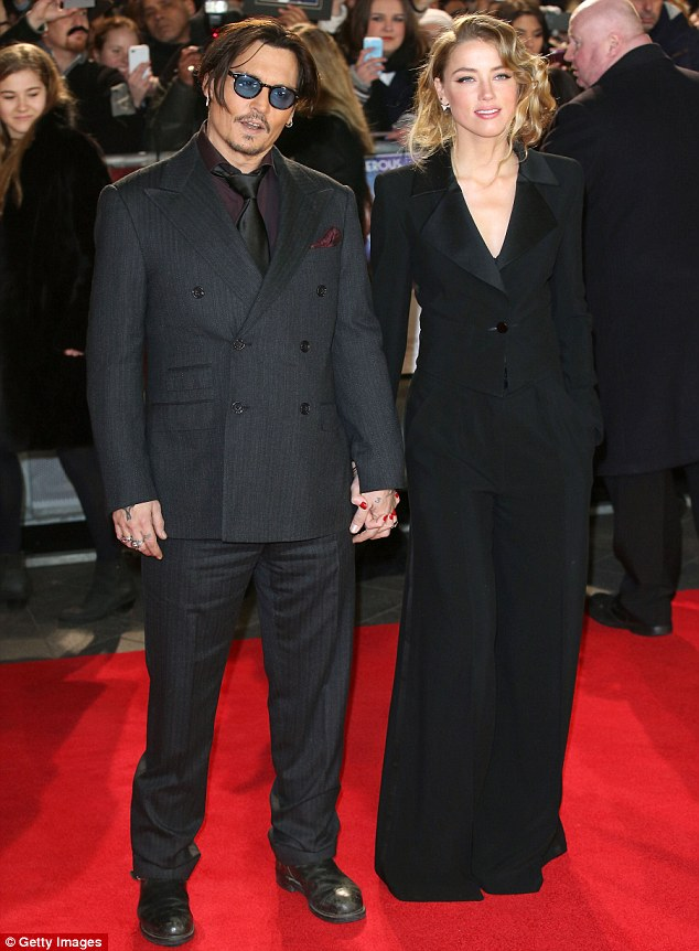 In sync: There had been rumours the pair were set to split, but they quashed those by attending the premiere of Johnny's movie Mortdecai in London last month