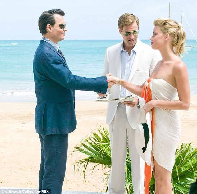 Art mirrors life: In The Rum Diary (2011) where Johnny first met Amber, their characters get married after a whirlwind romance