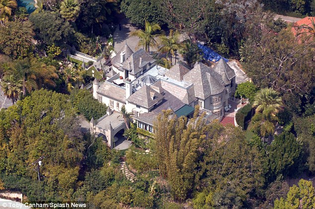 Surprise! Johnny and Amber are said to have tied the knot at the home they share in Los Angeles (pictured above)