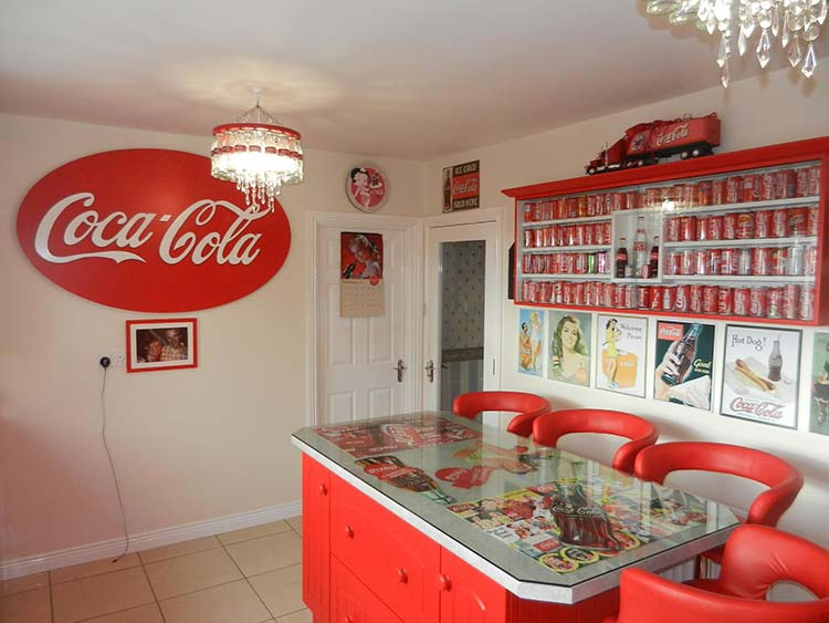 Lillian has her collage on display in the kitchen Cork Coke House