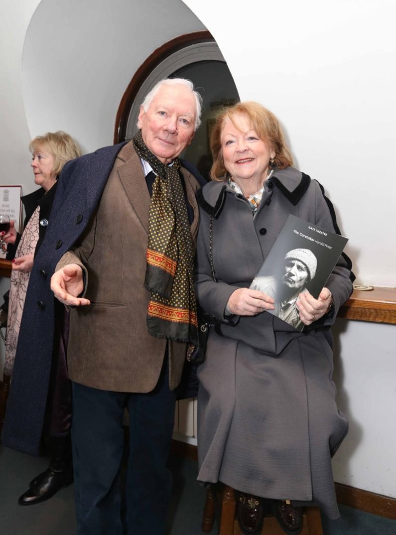 Gay Byrne and Kathleen Watkins. Pic: File
