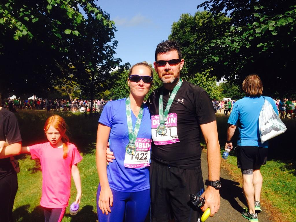 Kathryn and Padraig are both into health and fitness