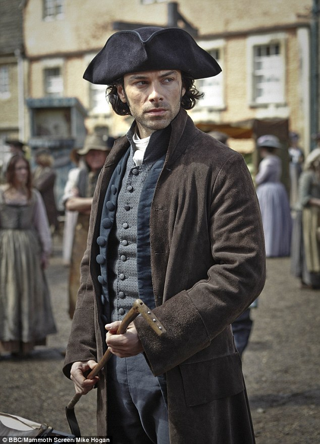 Admirers: He has gained a legion of admiring fans thanks to his role as brooding hunk Ross Poldark in BBC's Poldark
