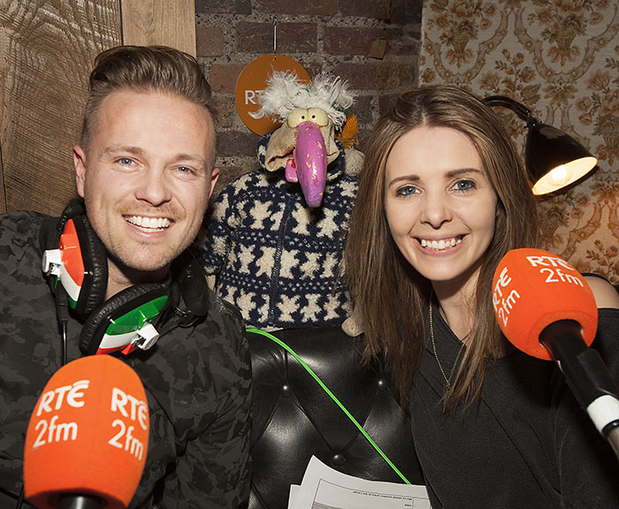 Nicky with co-anchor on 2FM Jenny Greene