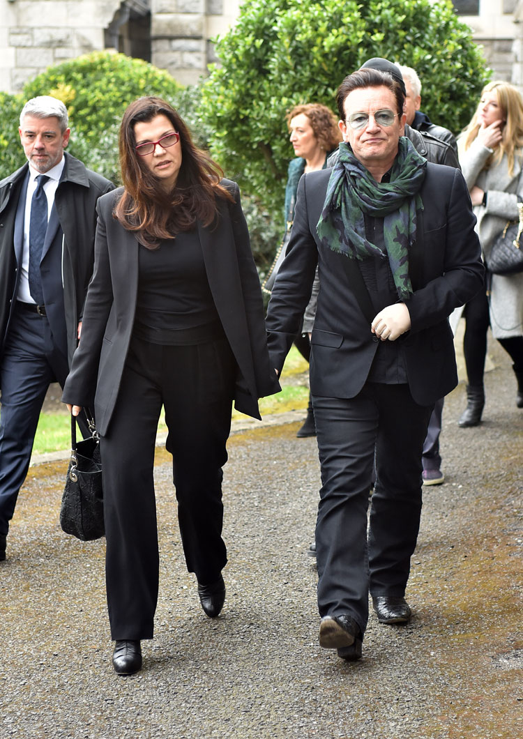 Bono and his wife Ali Hewson. Pic: File