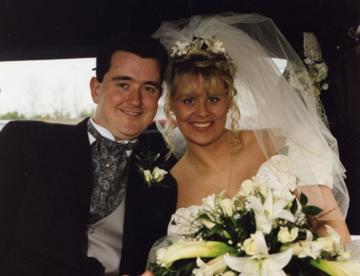 Joe O'Reilly and Rachel O'Reilly on their wedding day. On 4 October 2004, Joe murdered Rachel, bludgeoning her to death at their Baldarragh, Co. Dublin, home. In July 2007, Joe was convicted of the murder and given a life sentence.