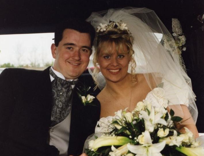 Joe O'Reilly and Rachel O'Reilly on their wedding day. On 4 Octo